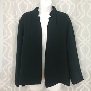 Eileen Fisher Forest Green Silk Blend Jacket